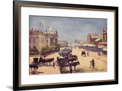 Postcard Depicting the Town Hall and Market Square--Framed Art Print