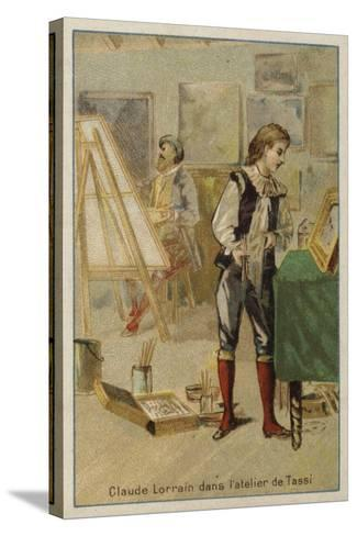 Claude Lorrain, French Painter, in the Studio of Agostino Tassi, Rome--Stretched Canvas Print