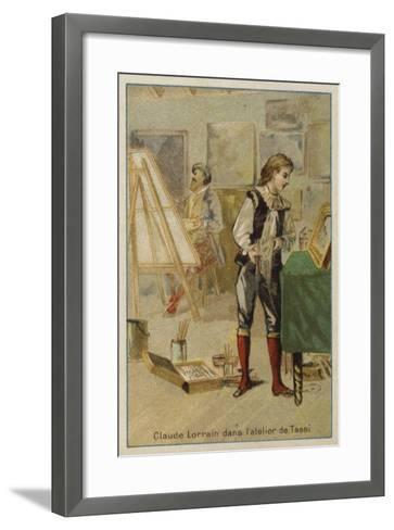 Claude Lorrain, French Painter, in the Studio of Agostino Tassi, Rome--Framed Art Print