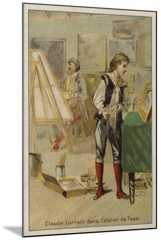 Claude Lorrain, French Painter, in the Studio of Agostino Tassi, Rome--Mounted Giclee Print