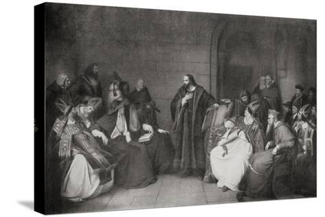 Jan Hus before the Council of Constance in 1414, 1920--Stretched Canvas Print