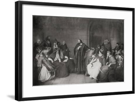 Jan Hus before the Council of Constance in 1414, 1920--Framed Art Print