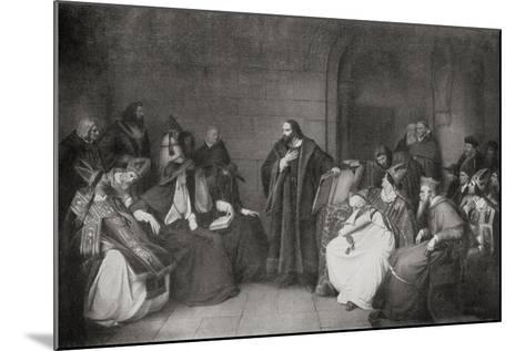 Jan Hus before the Council of Constance in 1414, 1920--Mounted Giclee Print