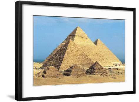 Egypt, Cairo, Ancient Memphis, Pyramids at Giza, Pyramid of Khafre--Framed Art Print