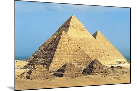 Egypt, Cairo, Ancient Memphis, Pyramids at Giza, Pyramid of Khafre--Mounted Giclee Print