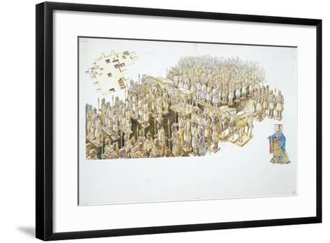 Terracotta Army in the Tomb of Emperor Qin Shi Huang--Framed Art Print