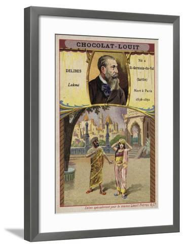 Leo Delibes, French Composer, and a Scene from His Opera Lakme--Framed Art Print