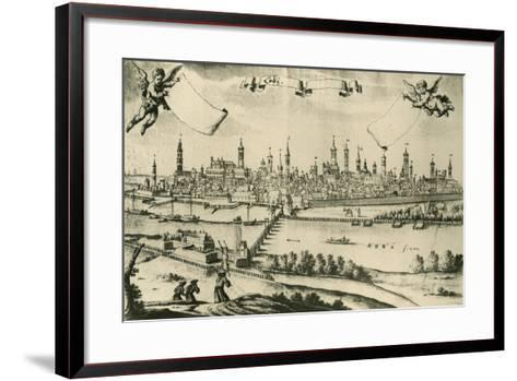 View of Lodi, 1720, from a Drawing by Friedrich Bernhard Werner--Framed Art Print