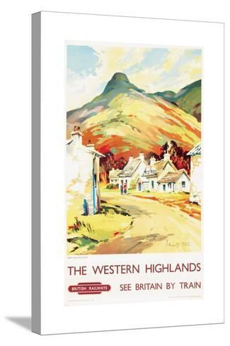 The Western Highlands, Poster Advertising British Railways, 1955--Stretched Canvas Print
