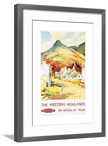 The Western Highlands, Poster Advertising British Railways, 1955--Framed Art Print