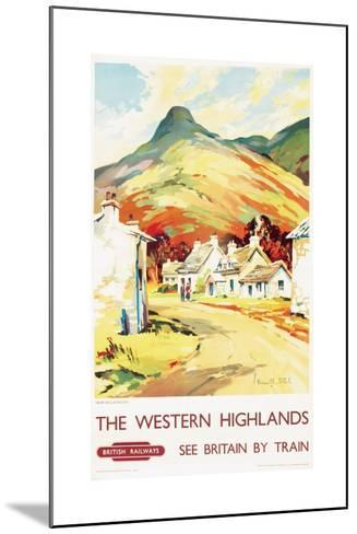 The Western Highlands, Poster Advertising British Railways, 1955--Mounted Giclee Print