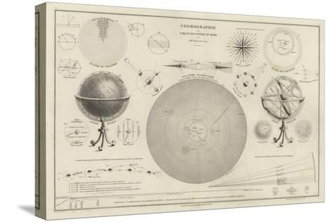 Cosmography, a Collection of Diagrams on Various Planetary Systems--Stretched Canvas Print