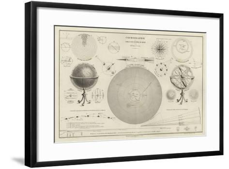 Cosmography, a Collection of Diagrams on Various Planetary Systems--Framed Art Print