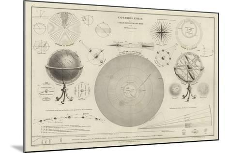 Cosmography, a Collection of Diagrams on Various Planetary Systems--Mounted Giclee Print