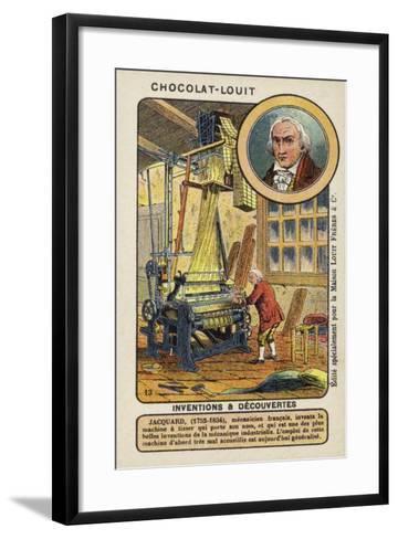 Joseph Marie Jacquard, French Weaver and Merchant--Framed Art Print