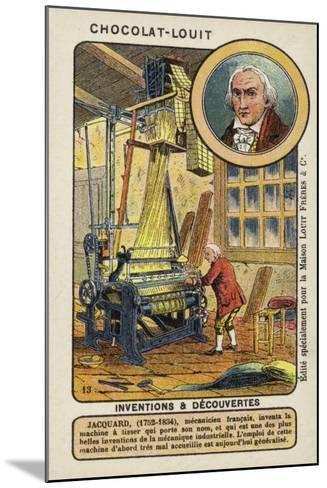 Joseph Marie Jacquard, French Weaver and Merchant--Mounted Giclee Print