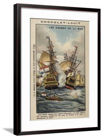 French Privateer Jean Bart Attacking the Dutch, 1694--Framed Art Print