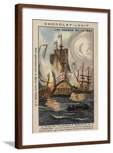 Primauguet, Breton Naval Commander, Attacking the English Fleet--Framed Art Print