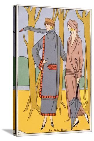 Autumn Days, Fashion Plate from 'Art, Gout, Beaute', Pub. Paris, 1920'S--Stretched Canvas Print
