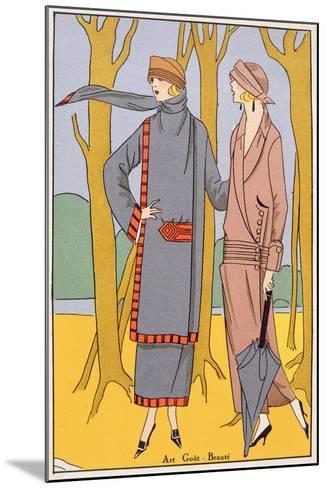 Autumn Days, Fashion Plate from 'Art, Gout, Beaute', Pub. Paris, 1920'S--Mounted Giclee Print
