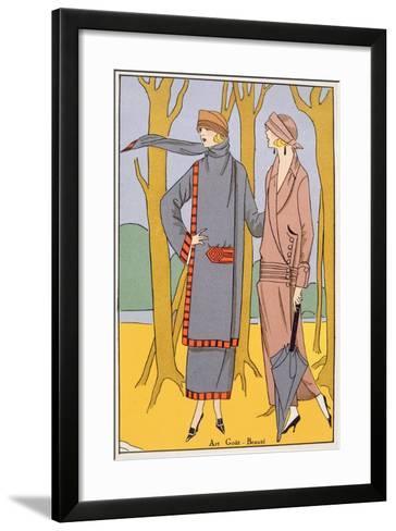 Autumn Days, Fashion Plate from 'Art, Gout, Beaute', Pub. Paris, 1920'S--Framed Art Print