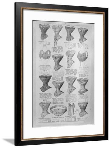 Advertisement for Corsets and Undergarments, C.1900--Framed Art Print