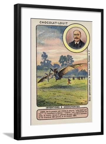 Clement Ader, French Engineer and Aviation Pioneer--Framed Art Print