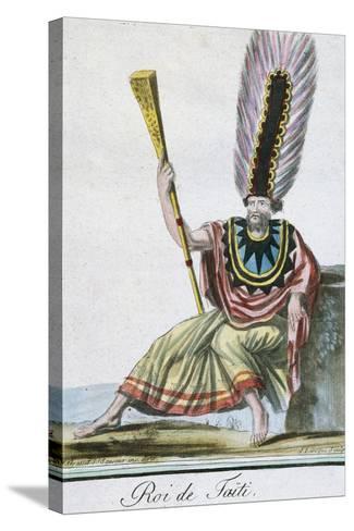 King of Tahiti, Society Islands--Stretched Canvas Print