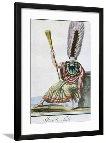 King of Tahiti, Society Islands--Framed Art Print