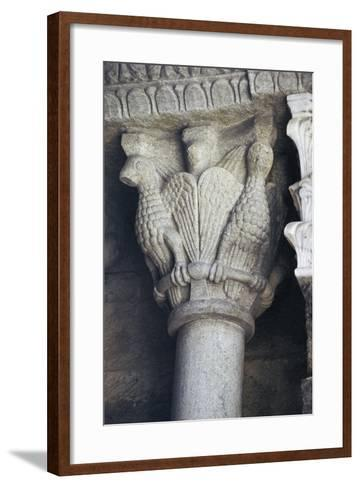 Winged Animals, Detail from Capital, Saint Michael's Abbey--Framed Art Print