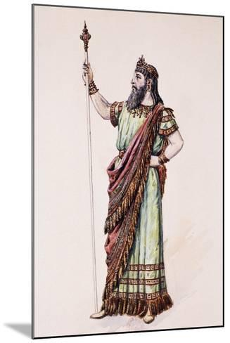 High Priest of Dagon, Sketch for the Costume Created by Charles Bianchini--Mounted Giclee Print