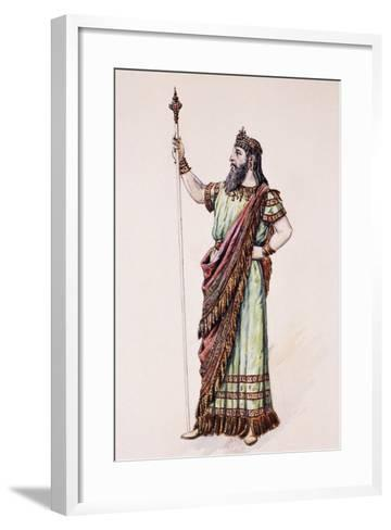 High Priest of Dagon, Sketch for the Costume Created by Charles Bianchini--Framed Art Print