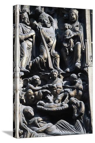 Detail of Sculptural Decoration, Jambs of Main Entrance--Stretched Canvas Print