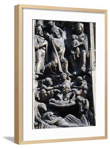 Detail of Sculptural Decoration, Jambs of Main Entrance--Framed Art Print