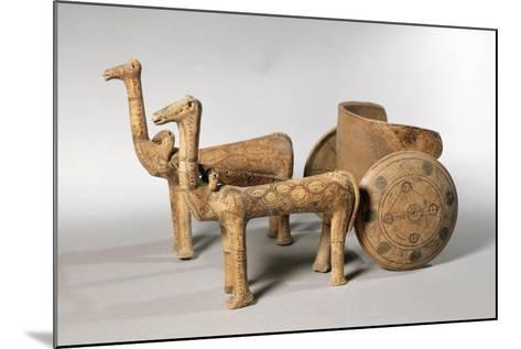 Painted Terracotta Figure of Chariot, from Tomb at Ancient Iolkos--Mounted Giclee Print