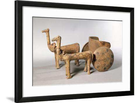 Painted Terracotta Figure of Chariot, from Tomb at Ancient Iolkos--Framed Art Print