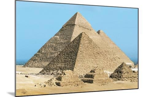 Egypt, Cairo, Ancient Memphis, Pyramids at Giza, Pyramid of Khafre--Mounted Giclee Print