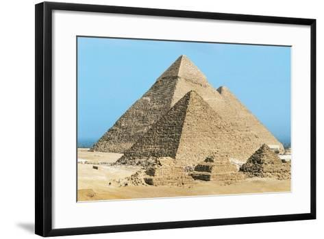 Egypt, Cairo, Ancient Memphis, Pyramids at Giza, Pyramid of Khafre--Framed Art Print