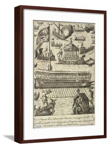 The Duchess Going to the Ducal Palace on the Bucintoro--Framed Art Print