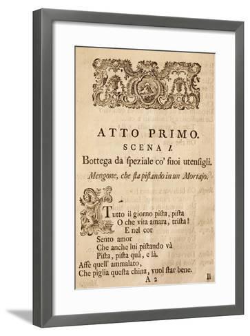 Act I, Scene I, from Operetta Apothecary, Music by Franz Joseph Haydn--Framed Art Print