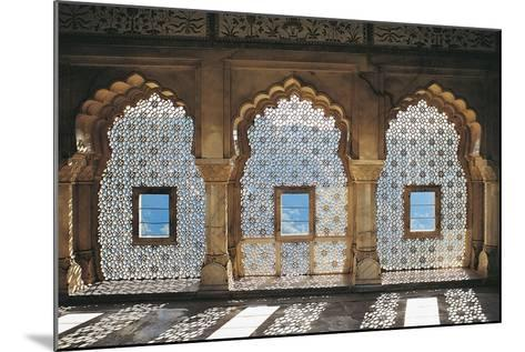 Openwork Windows in Mandir Jess Hall, Amber Fort or Amber Palace--Mounted Giclee Print