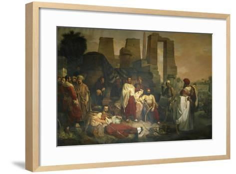 The Franco-Tuscan Archaeological Expedition to Egypt--Framed Art Print