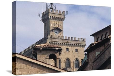 Government Building Tower or Palazzo Pubblico Tower--Stretched Canvas Print