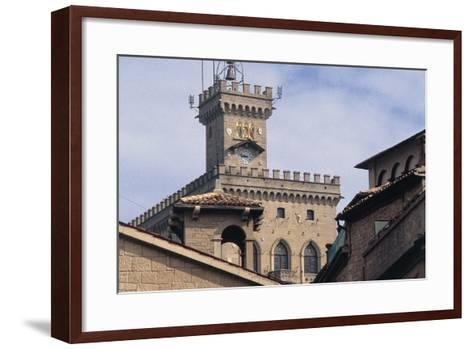 Government Building Tower or Palazzo Pubblico Tower--Framed Art Print