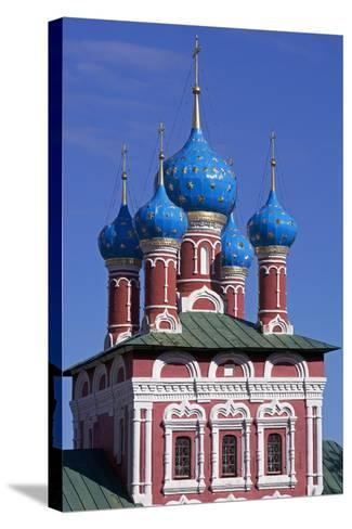 The Domes of Church of Prince Dimitri on Blood, Inside Kremlin--Stretched Canvas Print