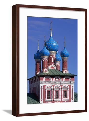 The Domes of Church of Prince Dimitri on Blood, Inside Kremlin--Framed Art Print