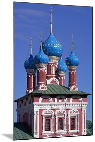 The Domes of Church of Prince Dimitri on Blood, Inside Kremlin--Mounted Giclee Print