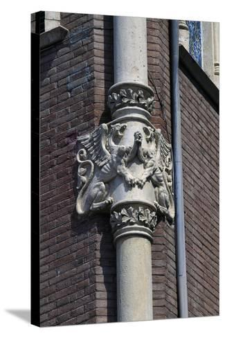 Winged Dragons, Decorative Frieze on Column of Private House of Pere Rull--Stretched Canvas Print