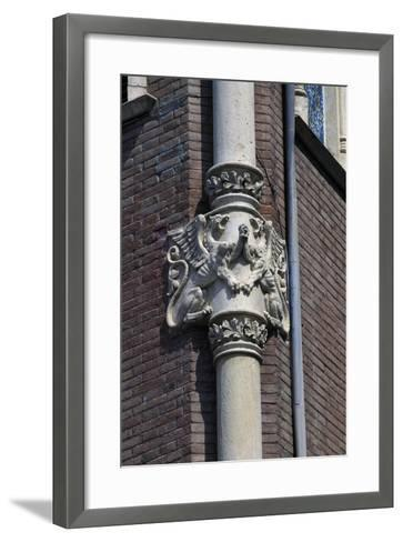 Winged Dragons, Decorative Frieze on Column of Private House of Pere Rull--Framed Art Print