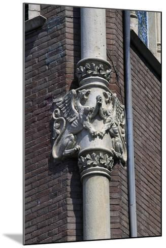 Winged Dragons, Decorative Frieze on Column of Private House of Pere Rull--Mounted Giclee Print